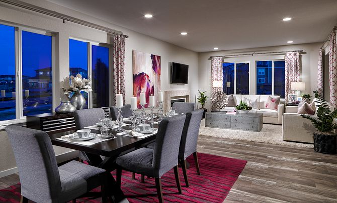 Colliers Hill Shea3D Plan 353 Dining and Great Room