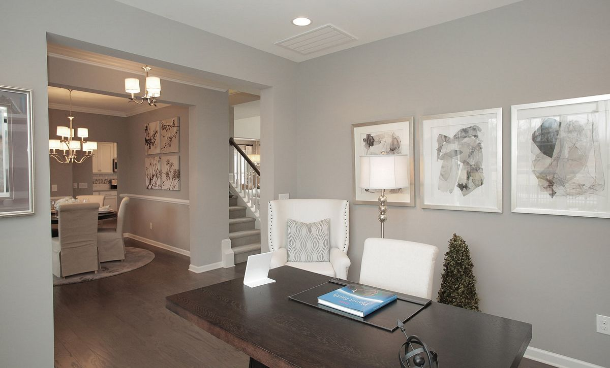 Calistoga plan Living Room with built-ins (example image)