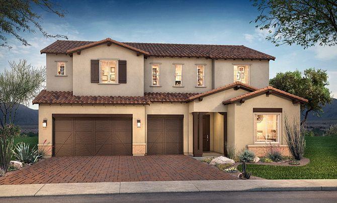 Plan 5016 Exterior B: Adobe Ranch