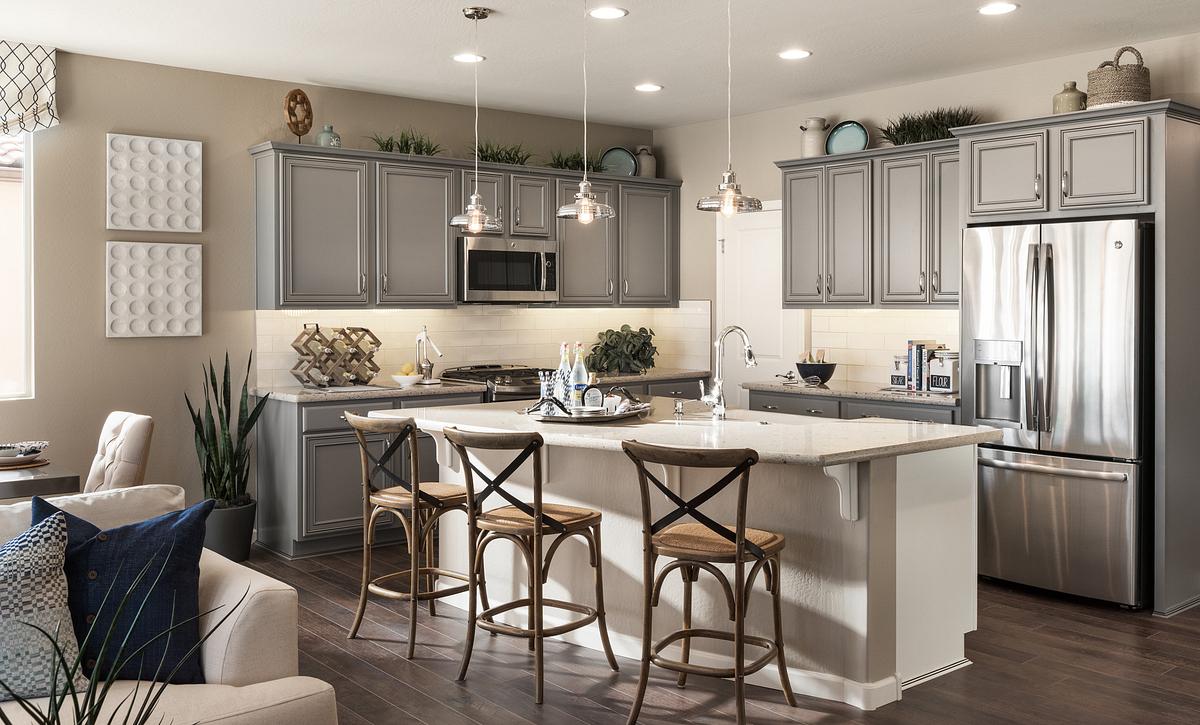 Vibrant Model Kitchen