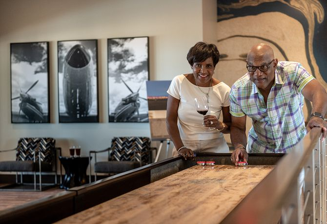 Trilogy Summerlin Homeowners Playing Shuffleboard