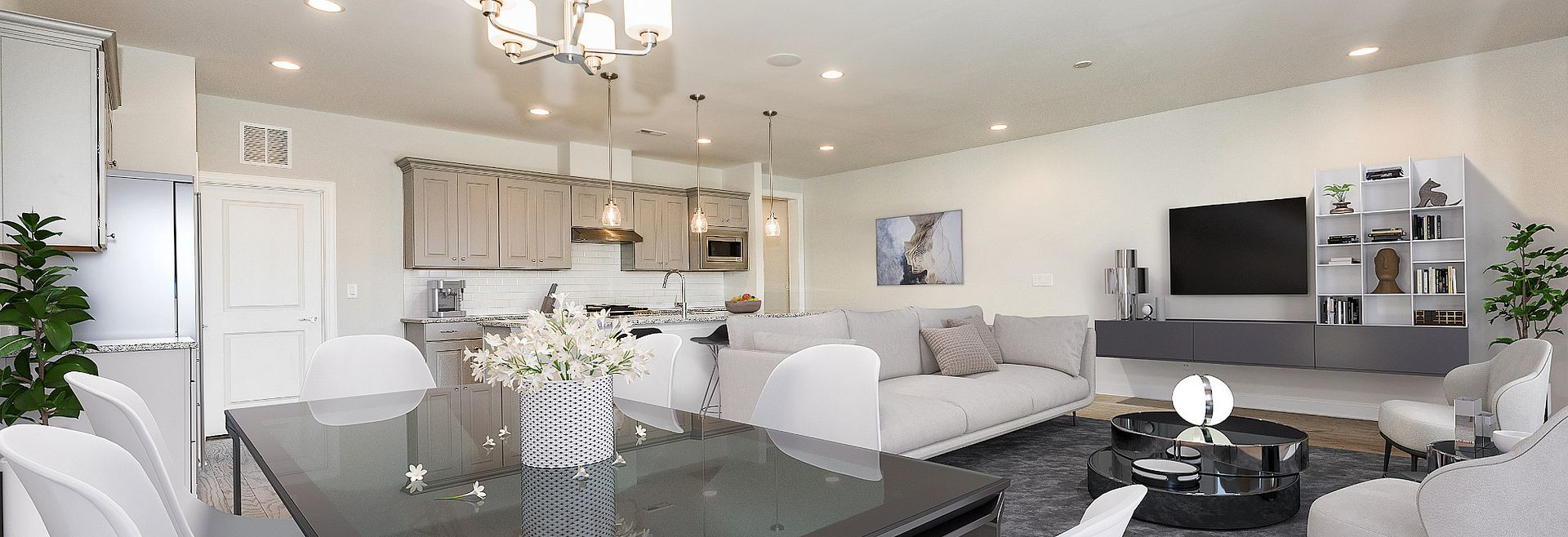 Trilogy Lake Norman Virtually Staged Great Room