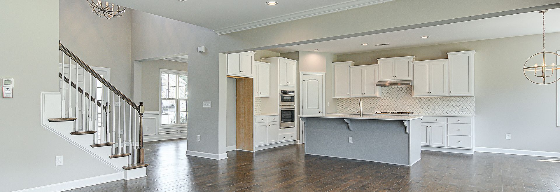 Verona plan Kitchen & Family Room