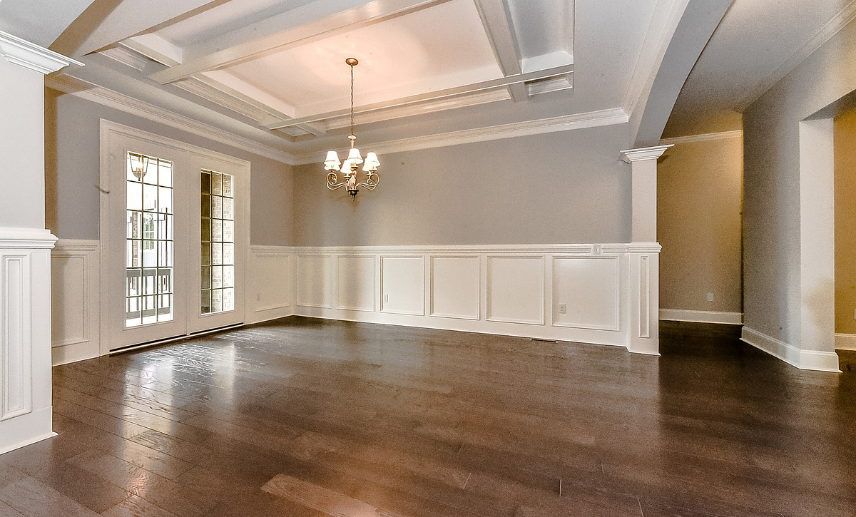 Kingsley plan Dining Room w/ coffered ceiling