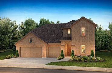 Plan 5059 Exterior A: Texas Traditional