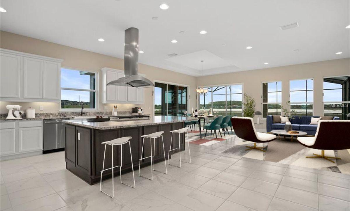 Virtually Staged Trilogy Orlando HS 5140 Kitchen