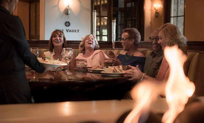 Trilogy Women Socializing in the Restaurant