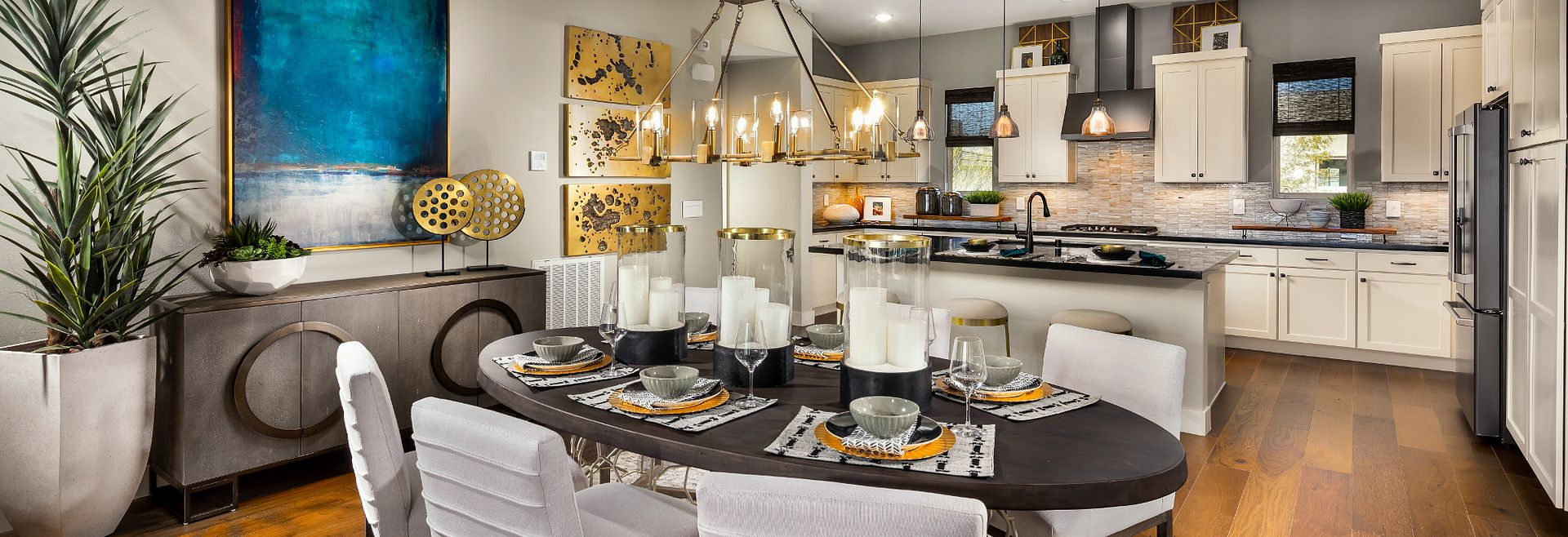 Splendor Plan Dining Room and Kitchen