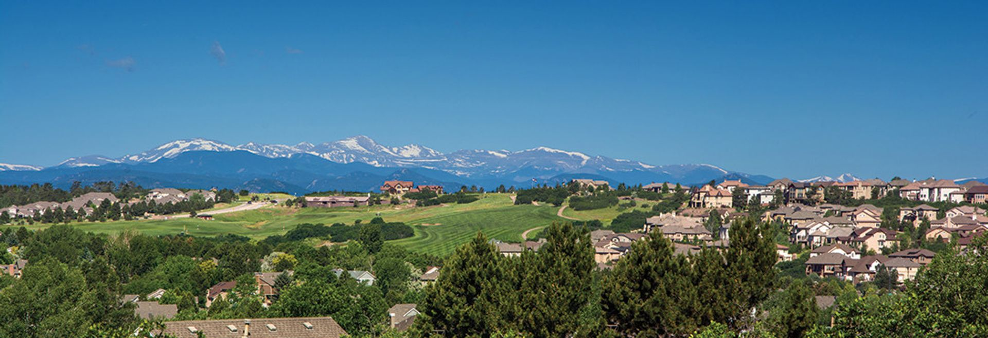 View of Castle Pines, Colorado in the Denver area