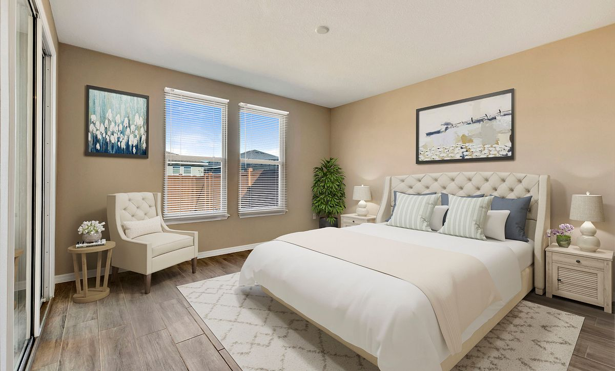 Trilogy Orlando Quick Move In Capri Plan Virtually Staged Master Bed
