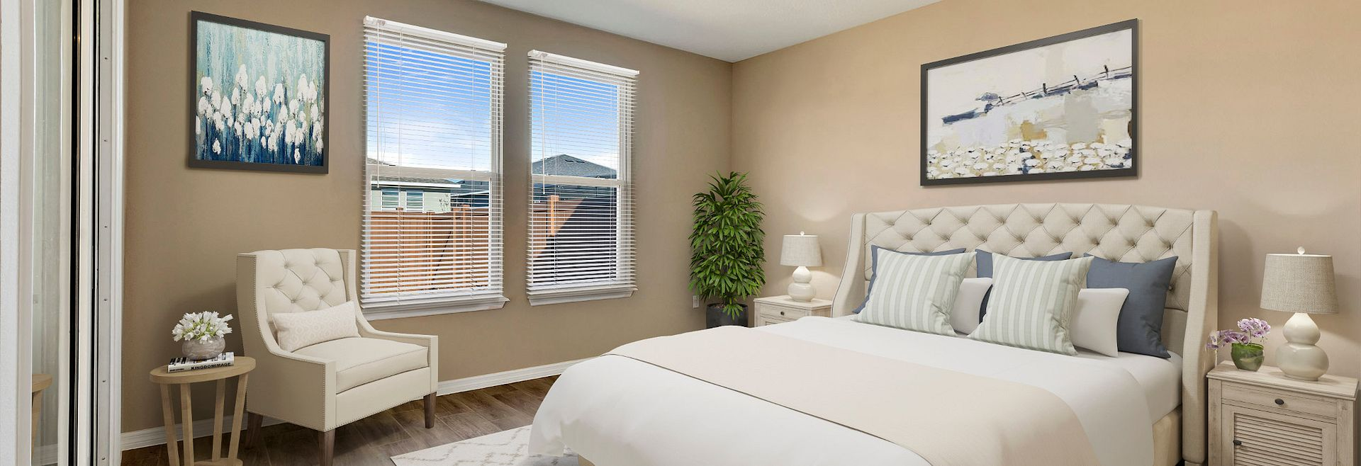 Trilogy Orlando Quick Move In Capri Virtually Staged Master Bed