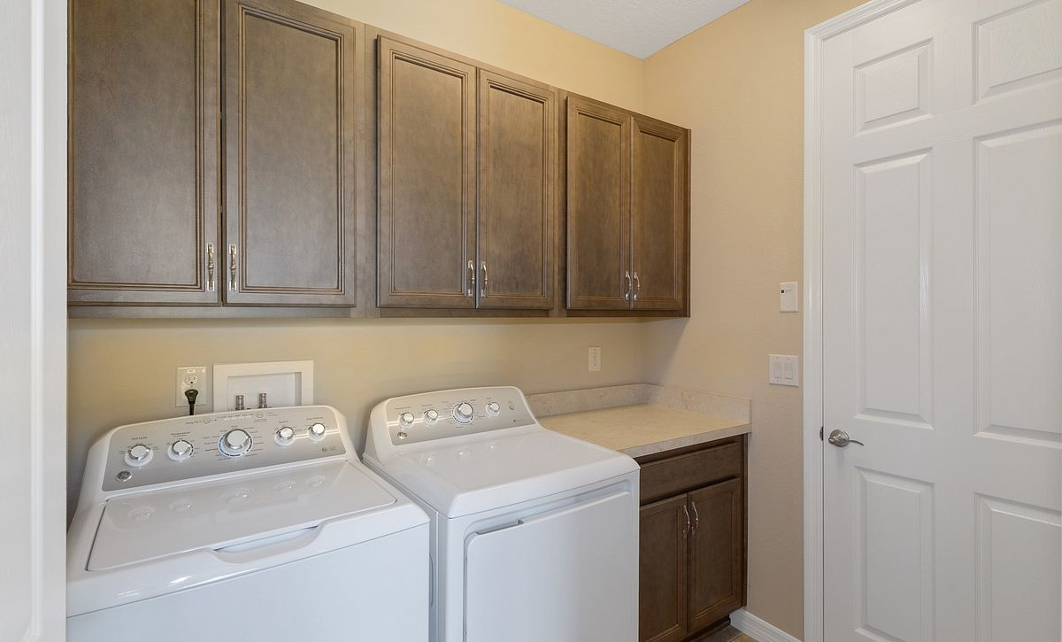 Trilogy at Ocala Preserve Quick Move In Monaco Plan Laundry