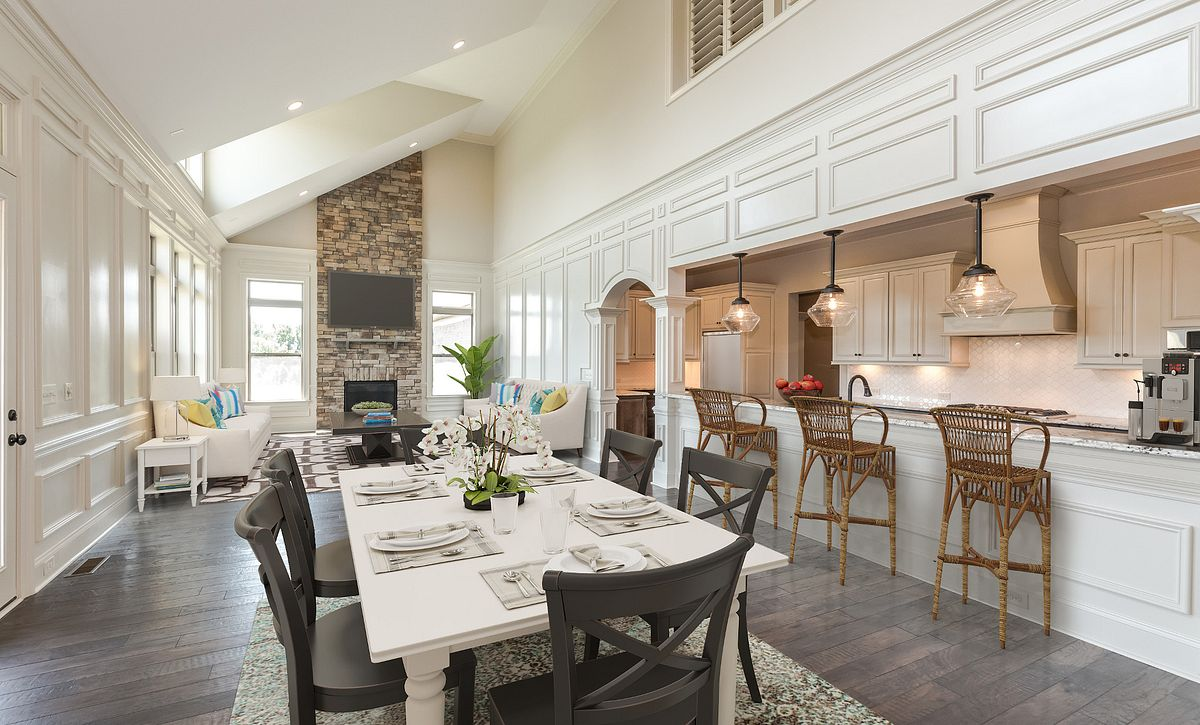 Aspen plan Morning Room, Kitchen & Family Room