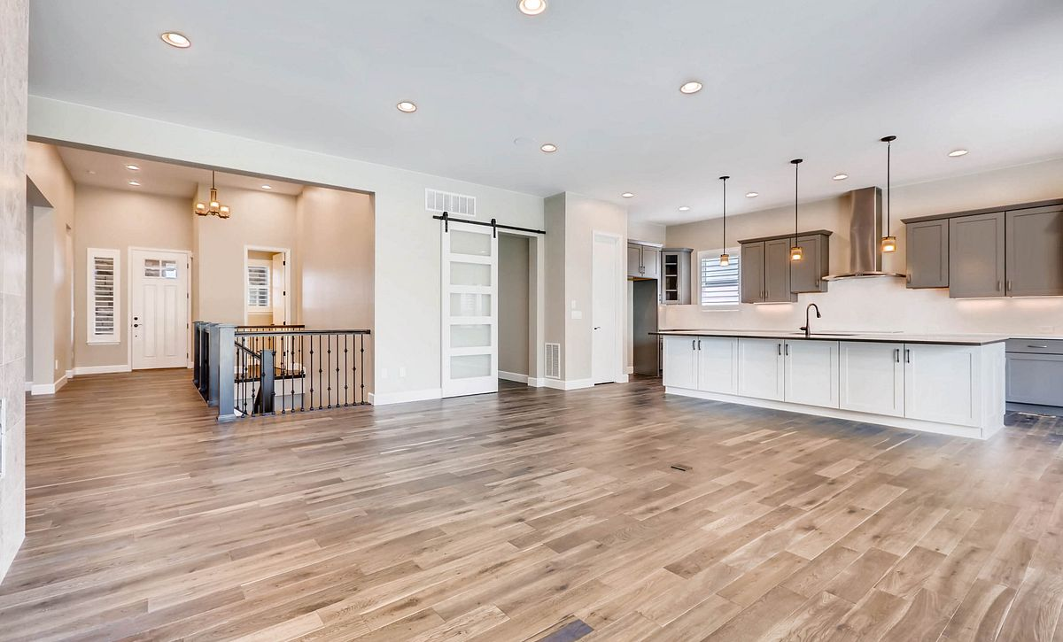Whispering Pines Woodland Coulter Pine Great Room and Kitchen