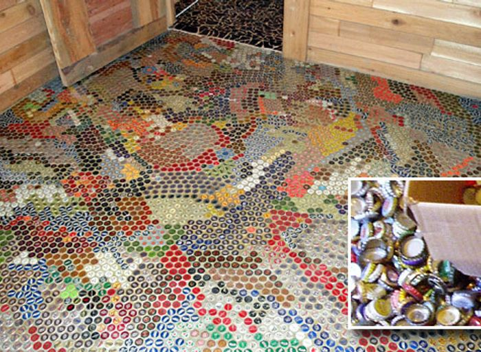 Bottlecap flooring by Dan Philips