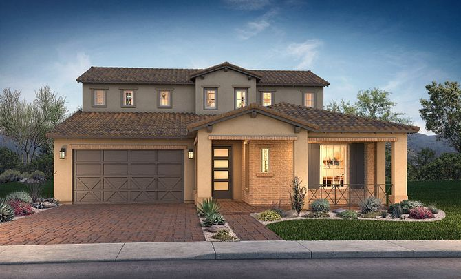 Plan Spark Exterior C: Adobe Ranch