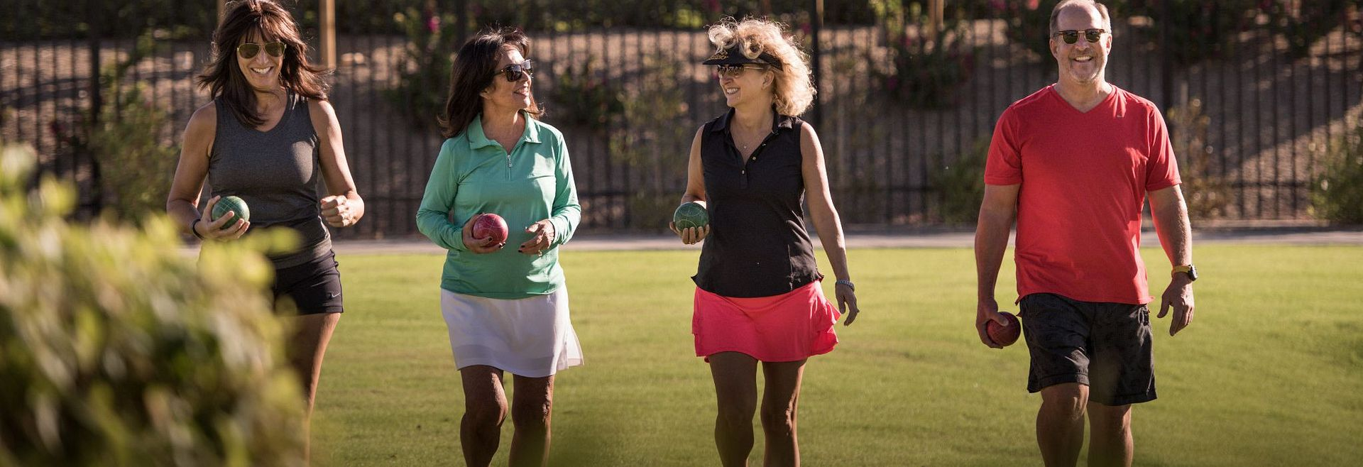 Trilogy Homeowners Play Bocce Ball