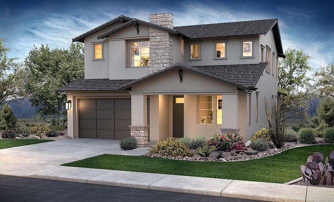 Ambition at Eastmark Hope Plan 3583 Modern Bungalow Exterior D