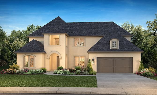 Plan 6040 Exterior B: French Country