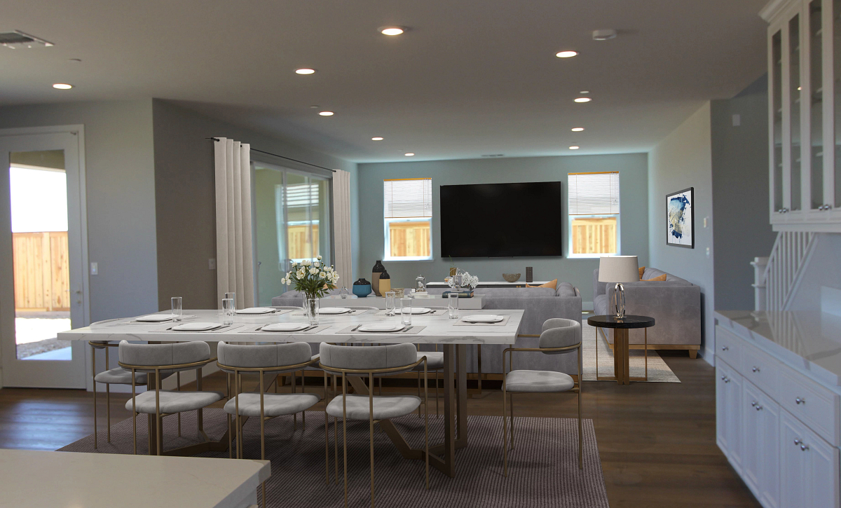 Plan 3 Living Area Virtual Staging