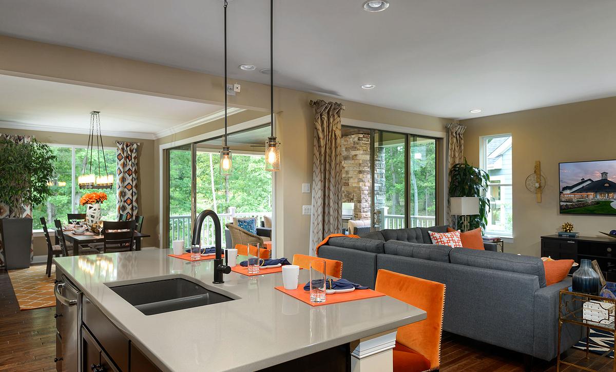 Trilogy at Lake Frederick Nice Floorplan Great Room & Kitchen