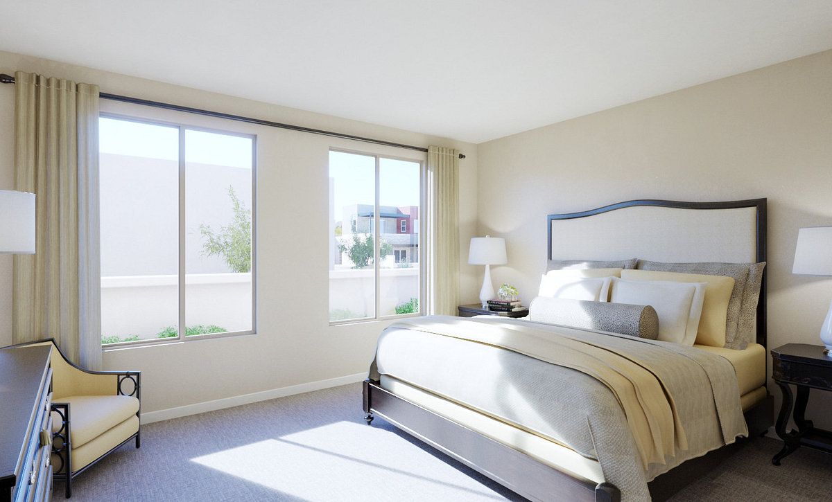 Trilogy Summerlin Explore Master Bedroom Rendering