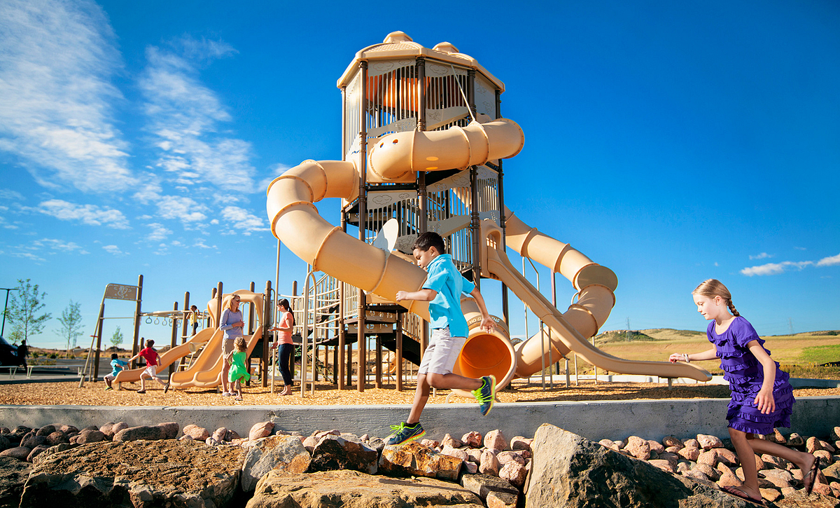 Stepping Stone Winding Path Park Playground