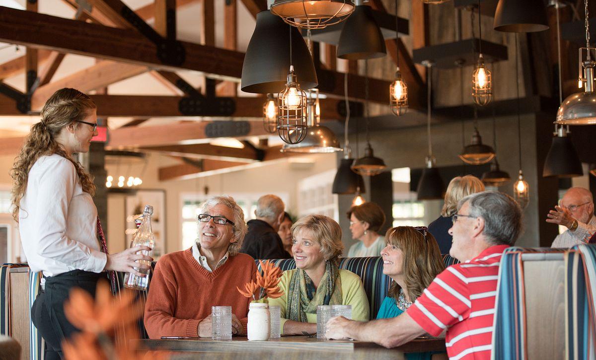 Folks dining at Region's 117