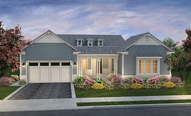 Riviera Plan Exterior B: Coastal Cottage