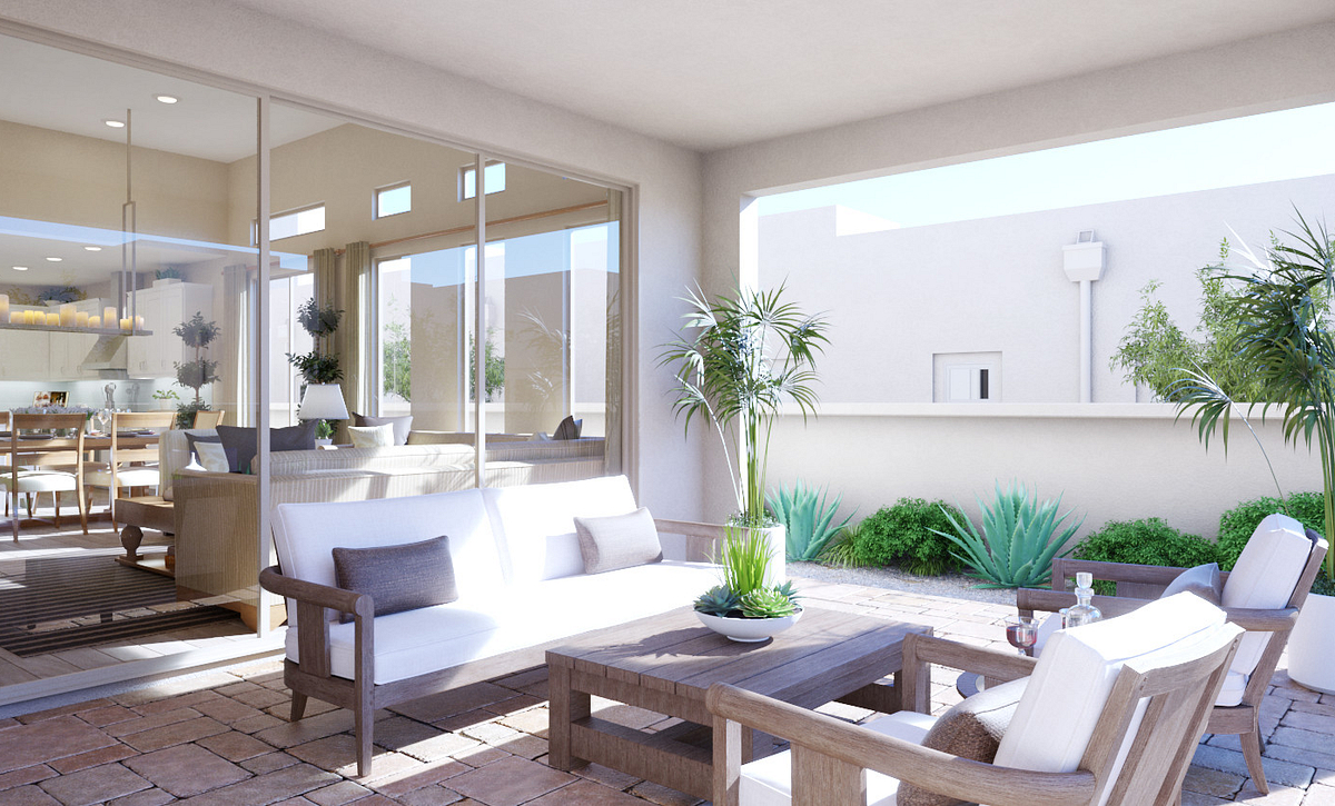 Trilogy Summerlin Explore Patio Rendering