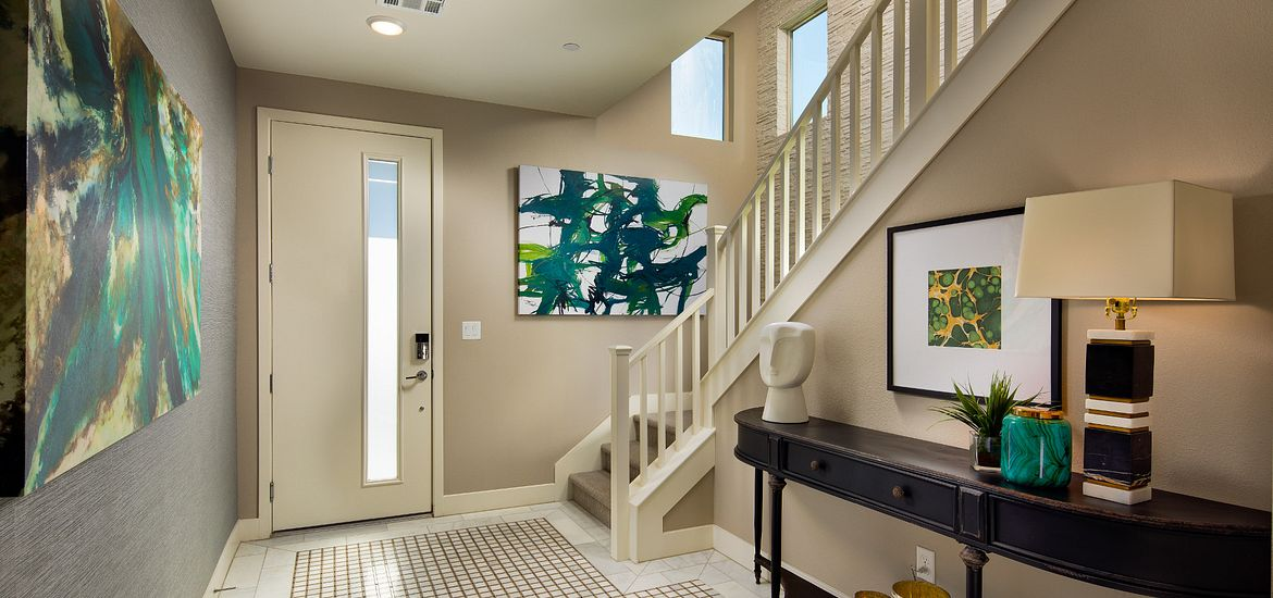 Entryway with Table and Lamp and Art work at Trilogy in Las Vegas, NV