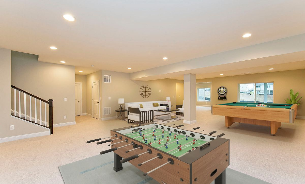 Trilogy at Lake Frederick Quick Move In Home Virtually Staged Lower Level