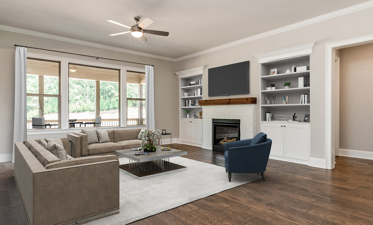 Sycamore Family Room staged