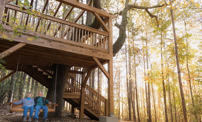 Couple in a Treehouse