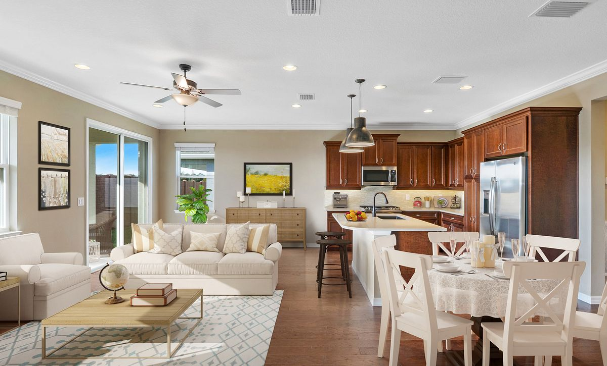 Trilogy at Ocala Preserve Quick Move In Virtually Staged Great Room