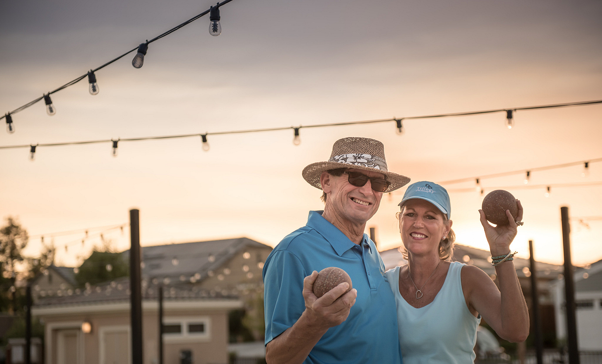 Trilogy Homeowners on The Bocce Courts