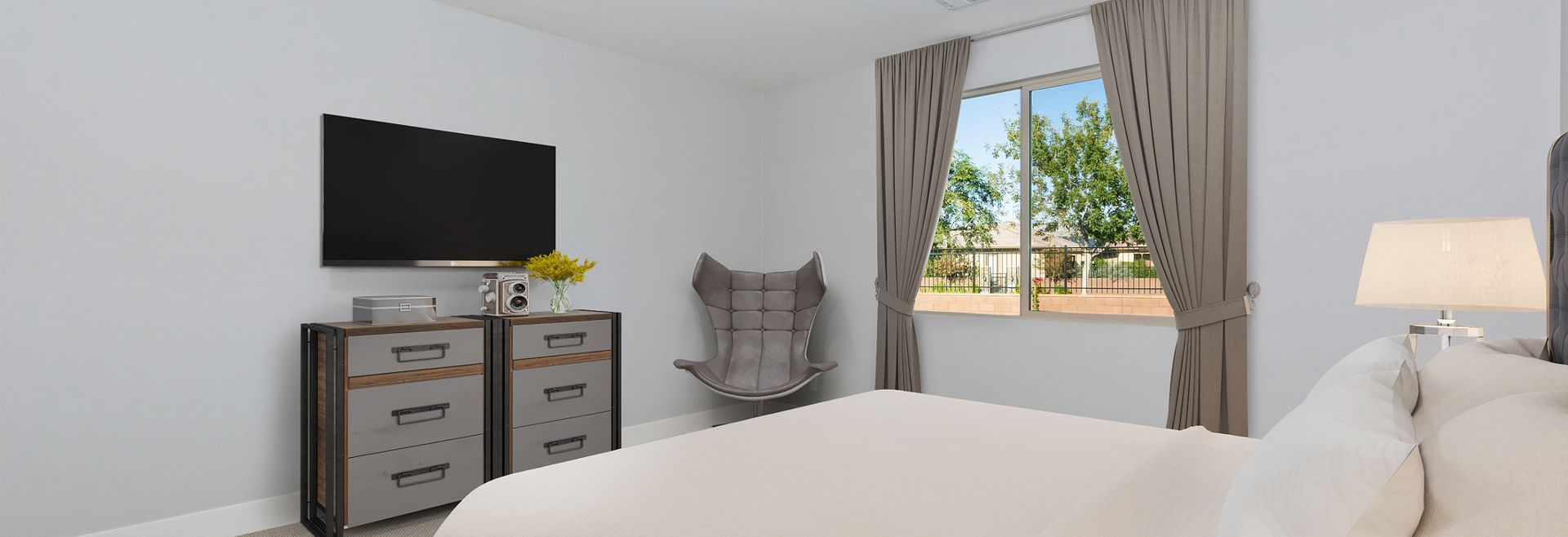 Trilogy Polo Club Unite Virtually Staged Master Bedroom