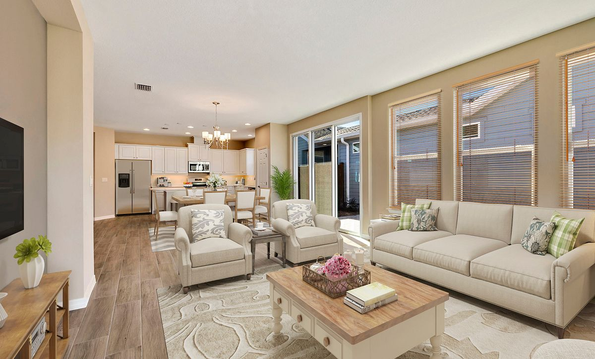 Trilogy Orlando Quick Move In Capri Plan Virtually Staged Great Room