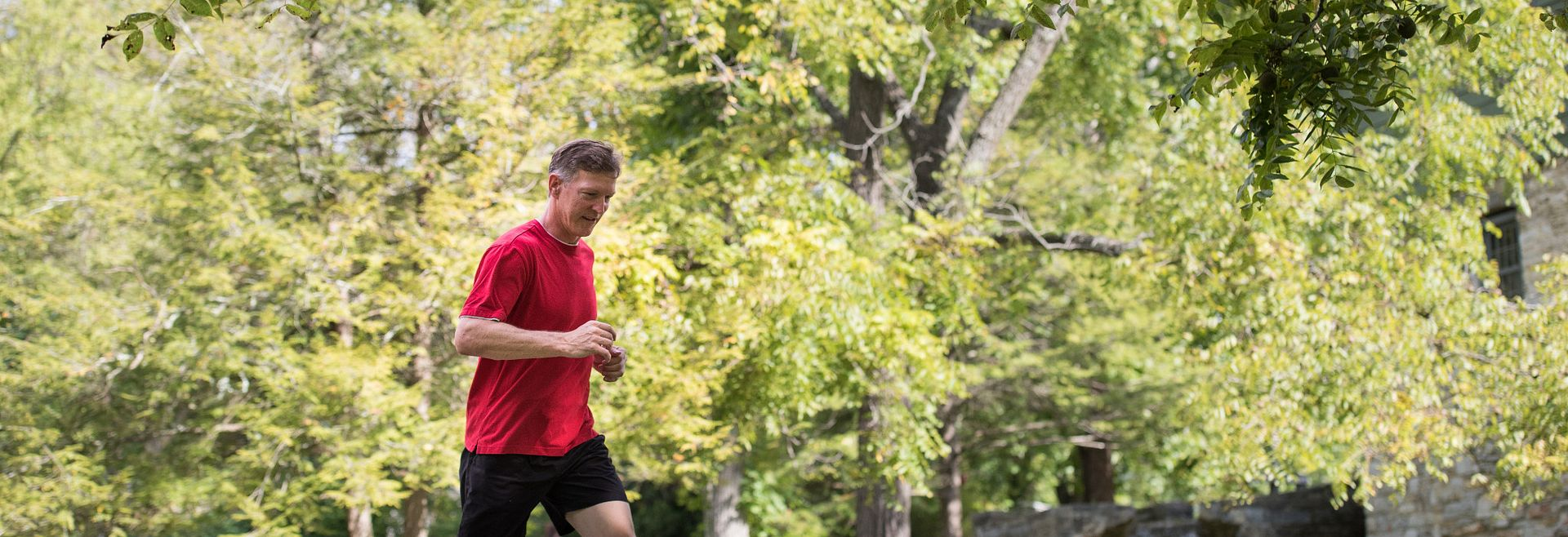 Active Man running