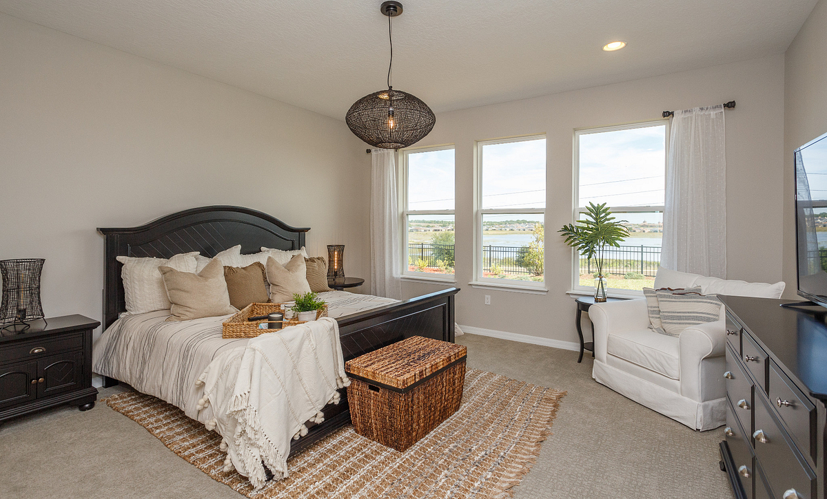 Trilogy Orlando Liberty Model Home Master Bed