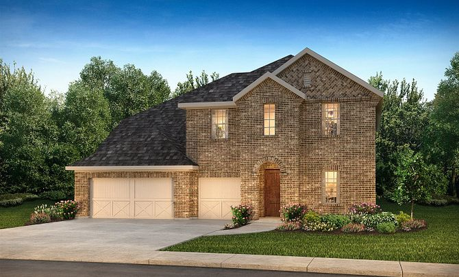 Plan 5069 Elevation A: Texas Traditional