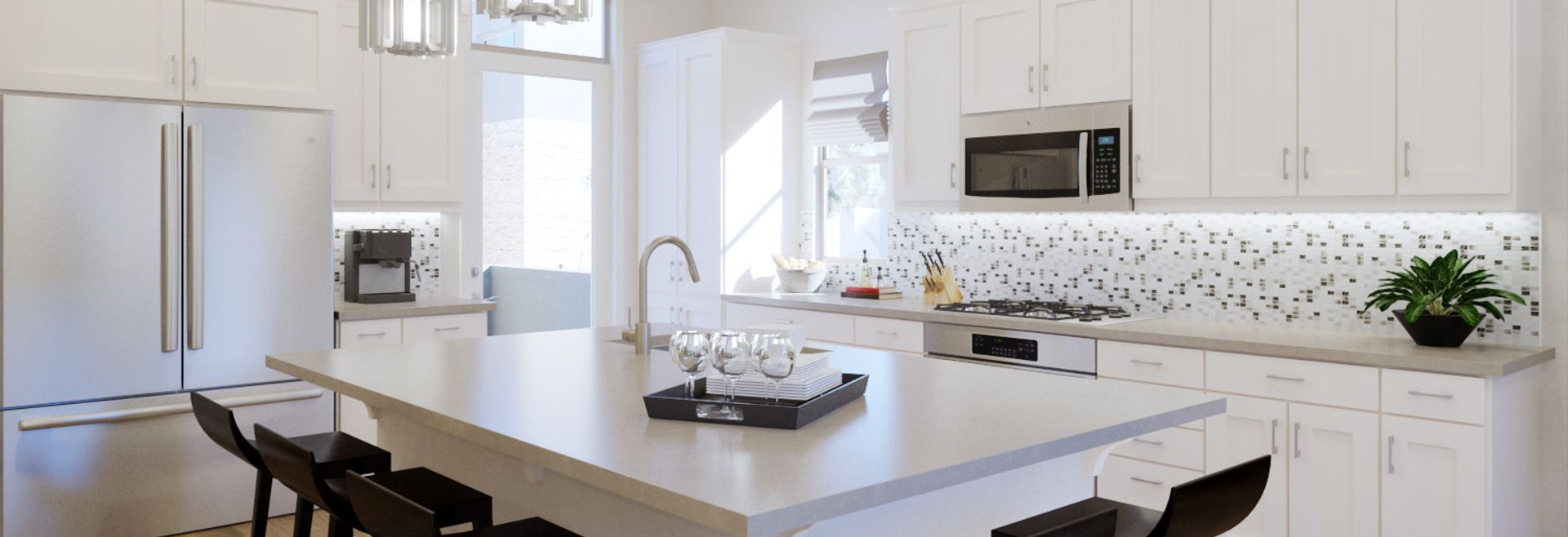 Trilogy Summerlin Radiant Virtually Staged Kitchen