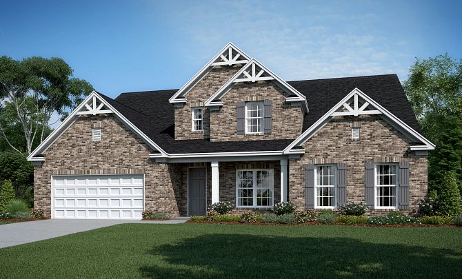 Wyndham A (Brick option shown & will include Side Entry Garage)