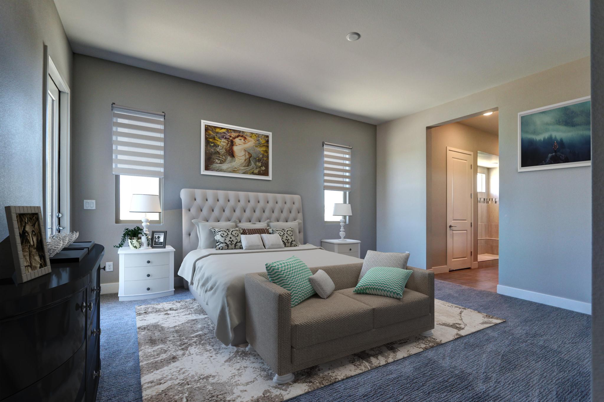 Trilogy in Summerlin Luminous Master Bedroom