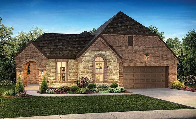 Plan 5128 Exterior B: Texas Traditional