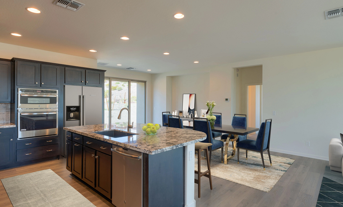 Virtually Rendered Kitchen and Dining
