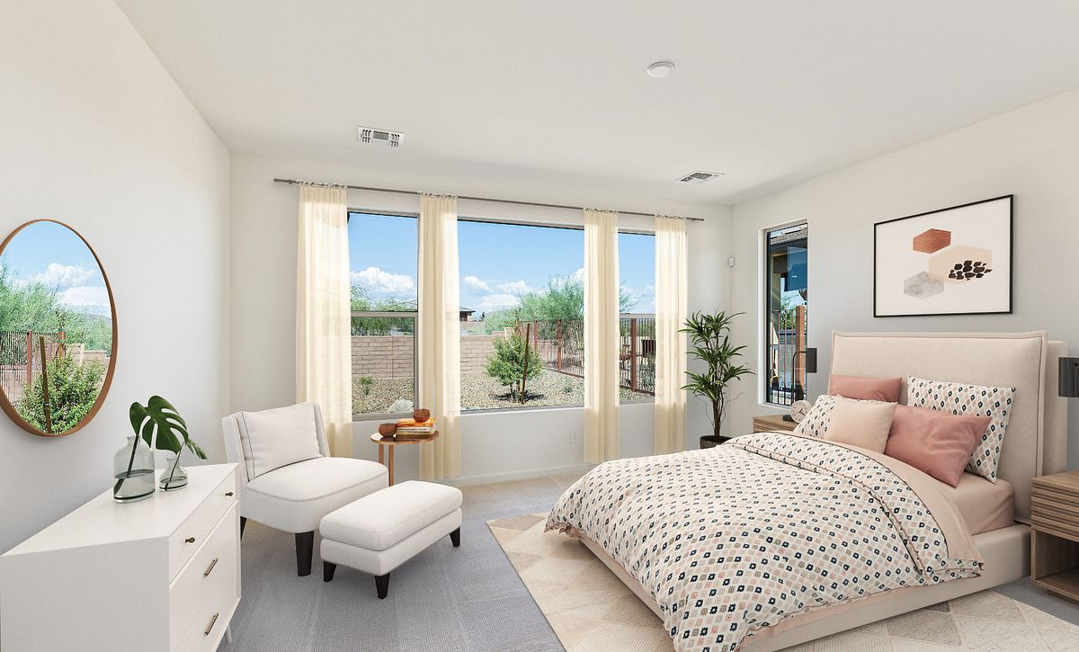 Virtually Rendered Master Suite