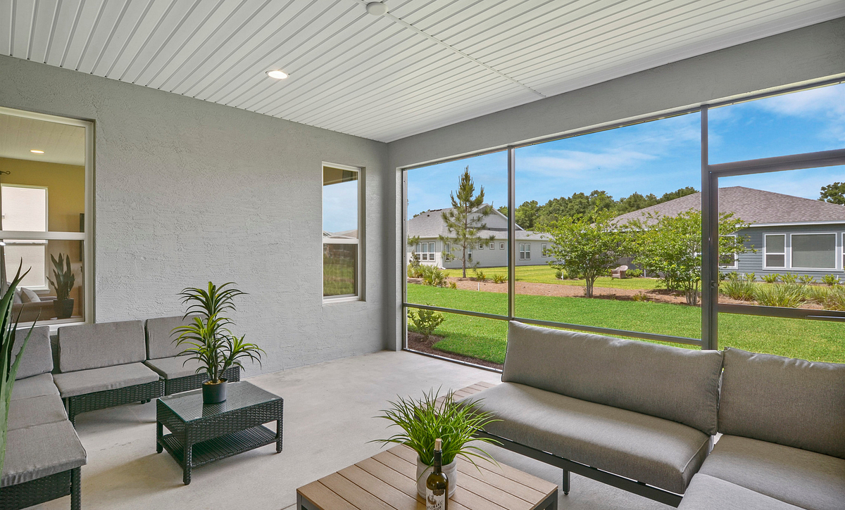 Trilogy at Ocala Preserve Excite Model Home Covered Lanai