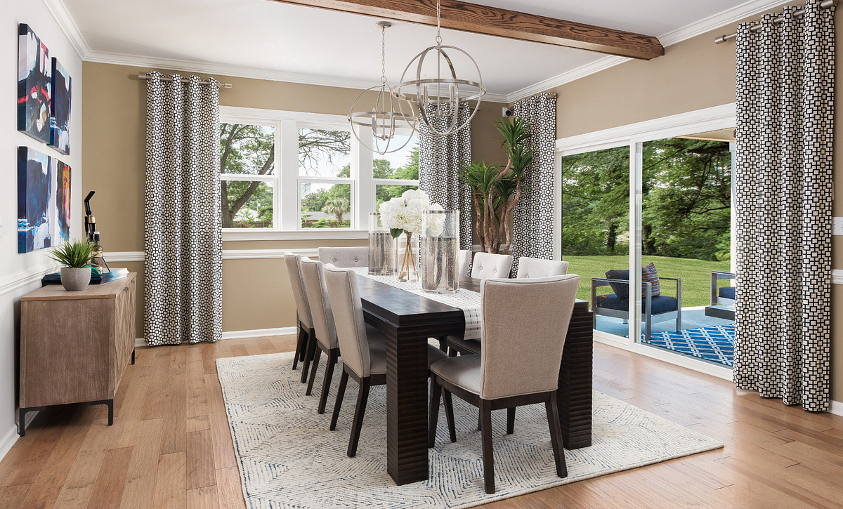 Dining Room with Optional Beams
