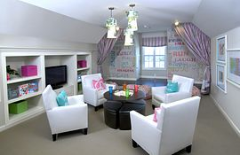Bonus room with built-in media niche and entertaining area